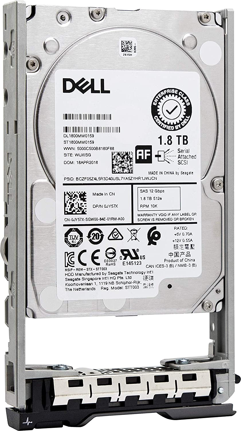 "Dell 400-AJQP 1.8TB 10k SAS 12Gb/s 2.5"" HDD with Gen 13 Tray"