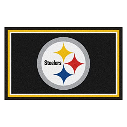 ee246698920 Amazon.com  FANMATS NFL Pittsburgh Steelers Nylon Face 4X6 Plush Rug ...