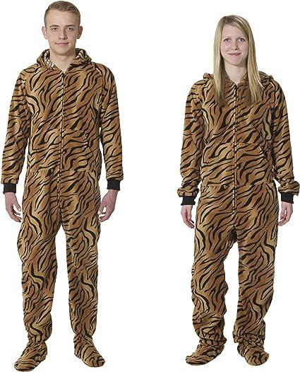 Footedpjz Plain Baby Blue Adult All in One Footed Onesie Sleepsuit Romper Pyjamas for Men and Ladies Unisex