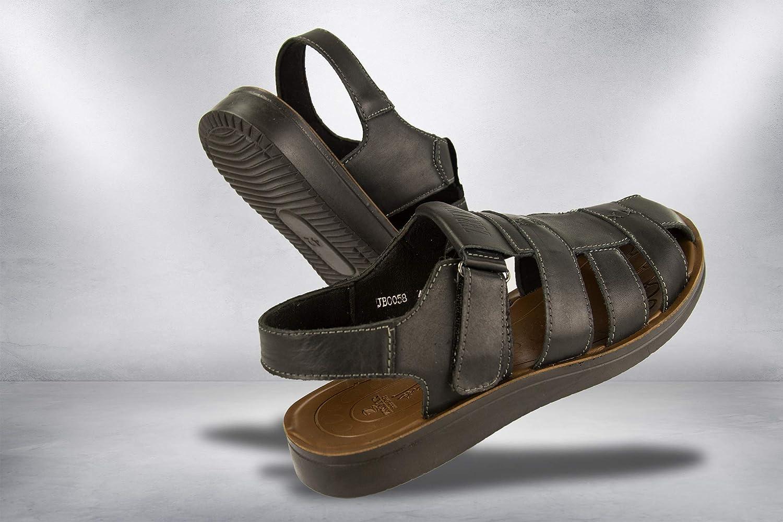 Zerimar Sandali da Uomo Sandali da Trekking da Uomo Sandali di Cuoio da Uomo Sandali Estivi da Uomo /… Sandals Man Hiking