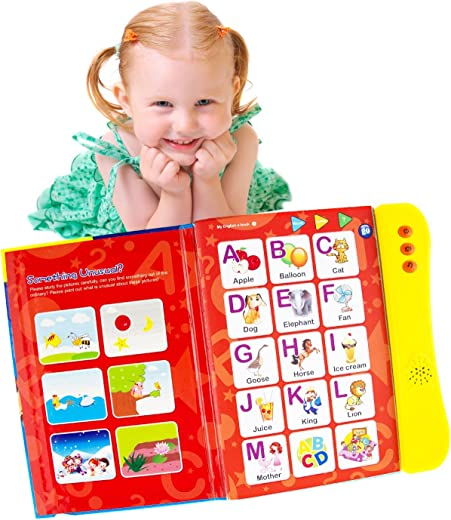 ABC Sound Book for Children. English Letters & Words Learning Book, Fun Educational Toys. Activities With Numbers, Shapes, Colors and Animals for Toddlers. Gift for Girls and Boys: 3+ Years Old