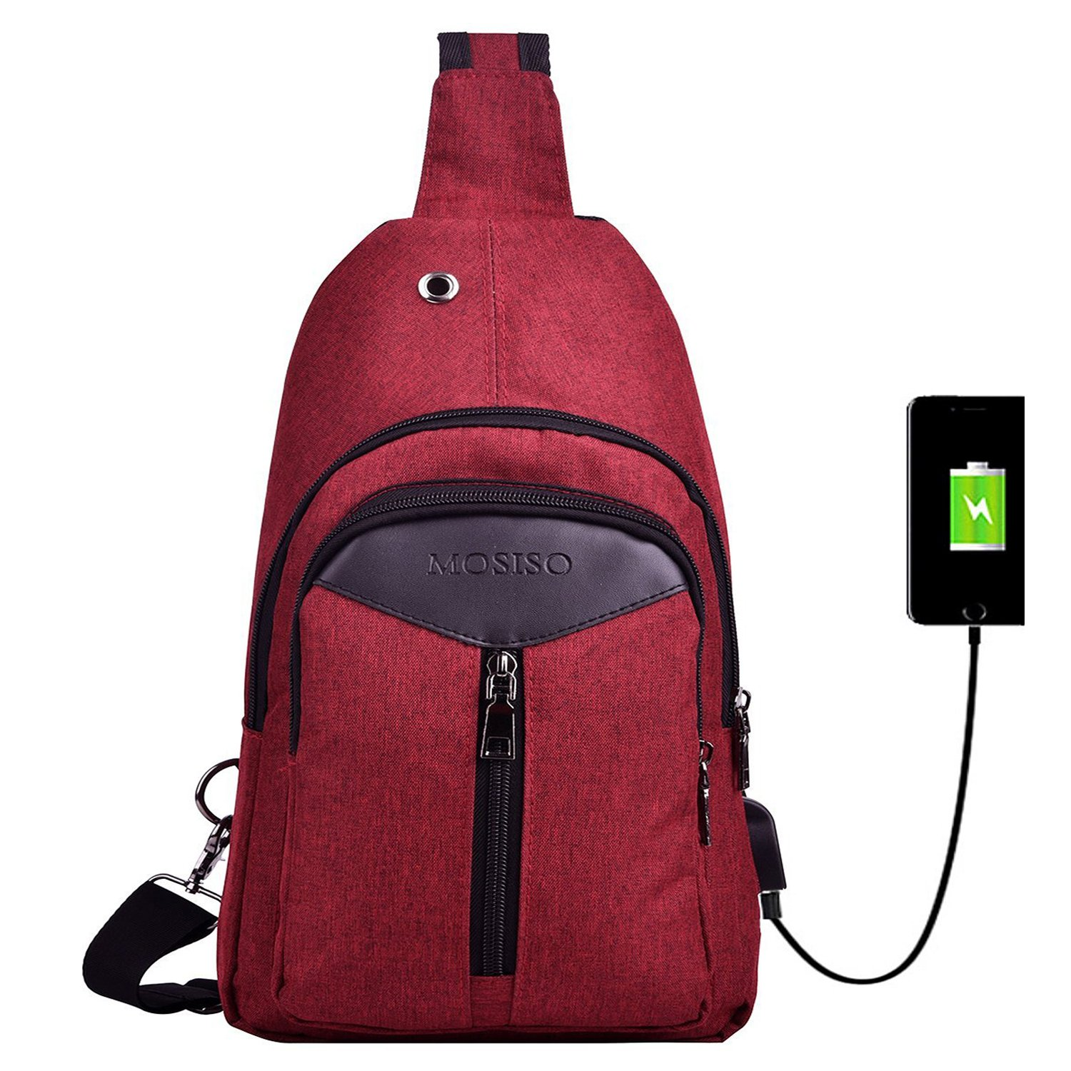 MOSISO Sling Backpack with USB Charging
