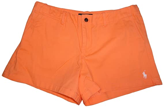 Ralph Lauren Polo Sport Womens Shorts 3 5 Pony Logo Orange 8