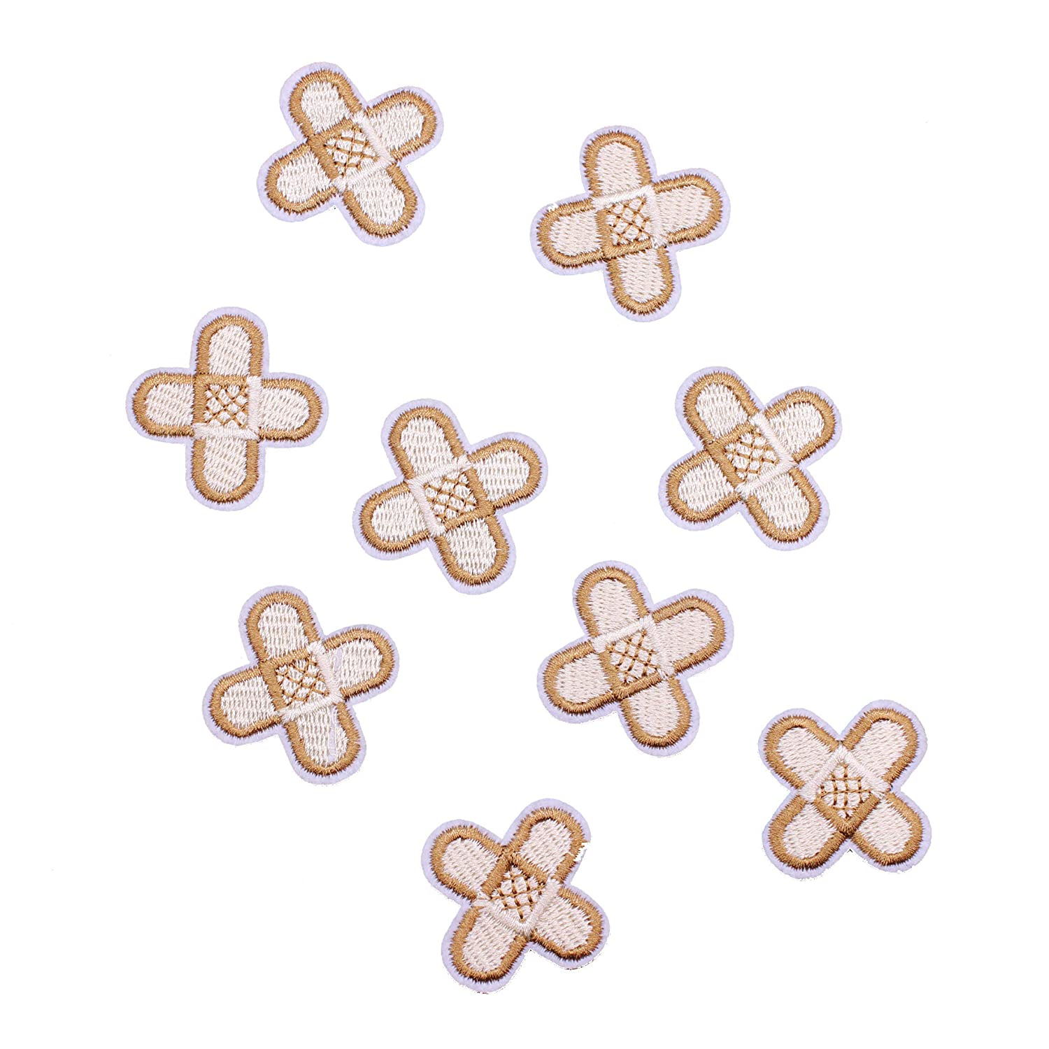 Pack of 1PC Size: 2.6x2.6 inch Backpacks Cute Band Aid Patch for Kids Clothing Jeans U-Sky Sew or Iron on Patches Biker Jackets