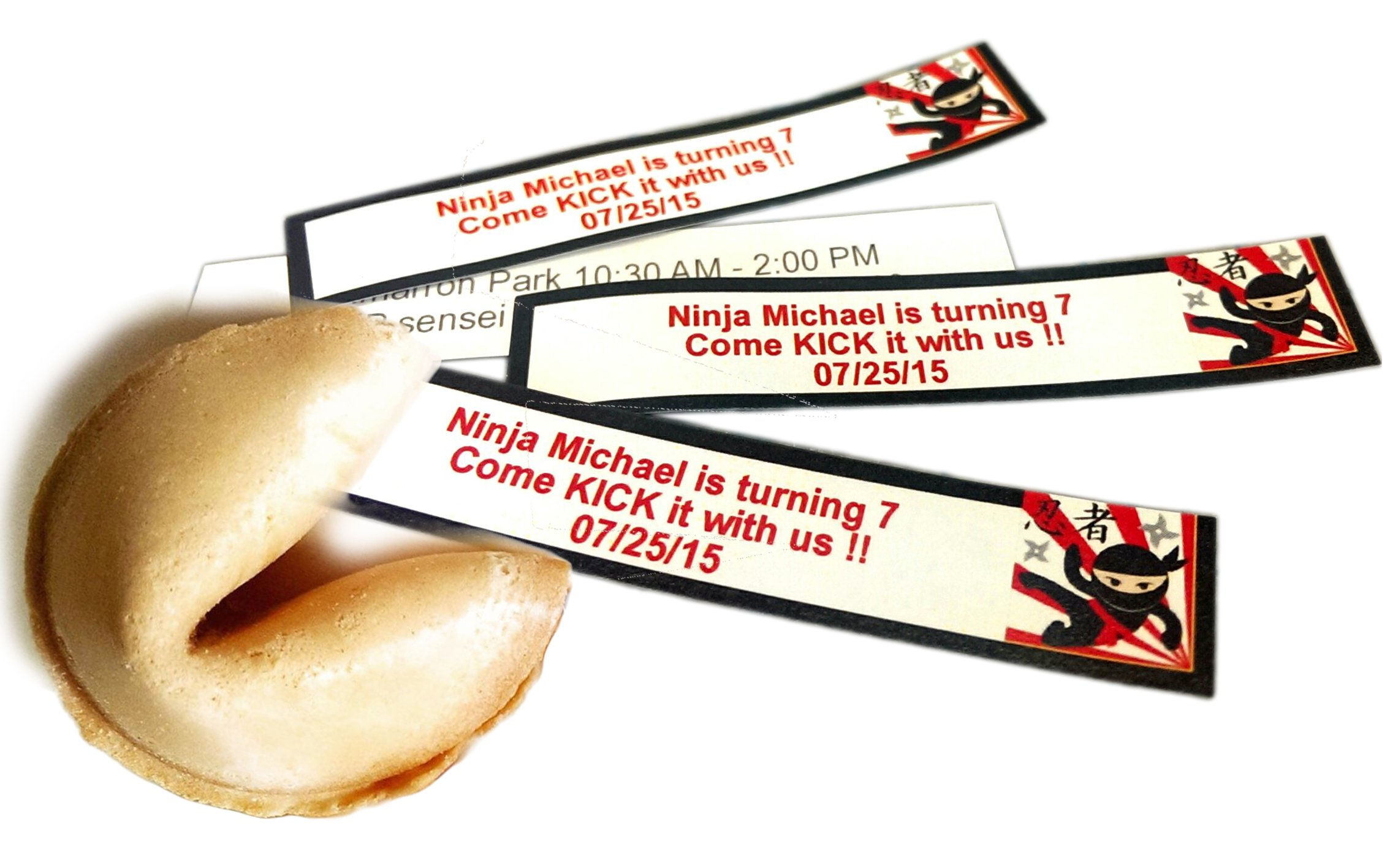 Greenfire Custom Fortune Cookies, for Special Events and Occasions, Full Color Fortune Printing, Premium Vanilla, Bulk Quantity by Greenfire Custom Fortune Cookies (Image #5)