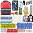 Ready America 70385 72 Hour Deluxe Emergency Kit, 4-Person 3-Day Backpack, First Aid Kit, Survival Blanket, Power Station, Mu