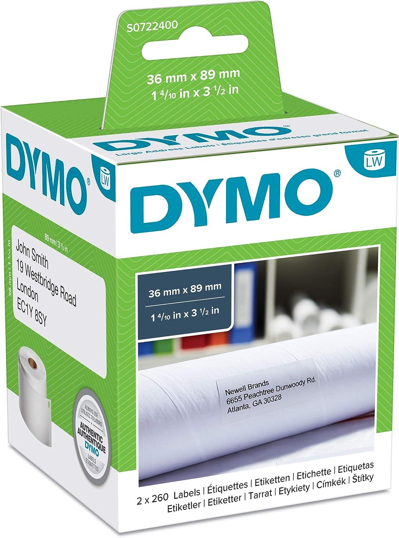 450 Turbo 300 DRUCKER ETIKETTEN WEIá 41x89mm für DYMO Labelwriter 450