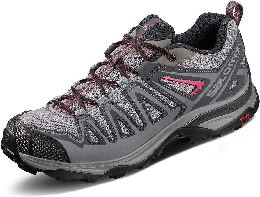 Salomon X Ultra 3 Prime W, Zapatillas de Senderismo para Mujer, Gris (Alloy/Ebony/Malaga), 37 1/3 EU: Amazon.es: Zapatos y complementos