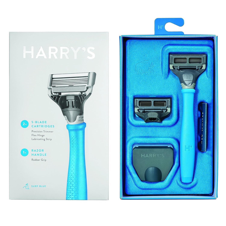 Harry's Men's Razor with 2 Razor Blades Surf Blue Harry's