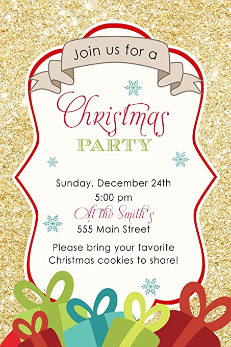 Tarjeta De Invitación Para La Fiesta De Navidad 30 Morado