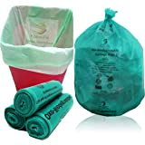 NaturePac Garbage Bags Biodegradable For Kitchen,Office,Large Size (60cmX81cm/(24 Inchx32 Inch),45 Bag).(Green)