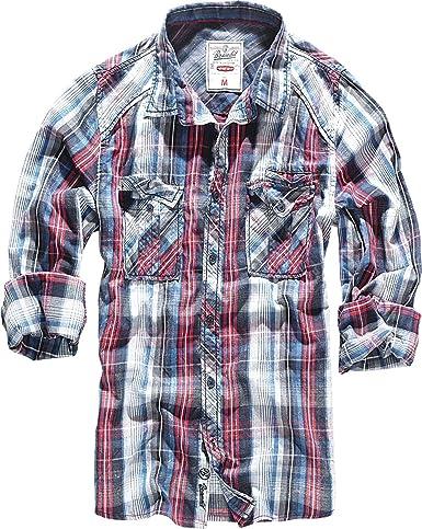 Brandit Central City Check - Camisa vintage: Amazon.es: Ropa y accesorios