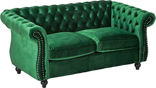 Christopher Knight Home Karen Traditional Chesterfield Loveseat Sofa
