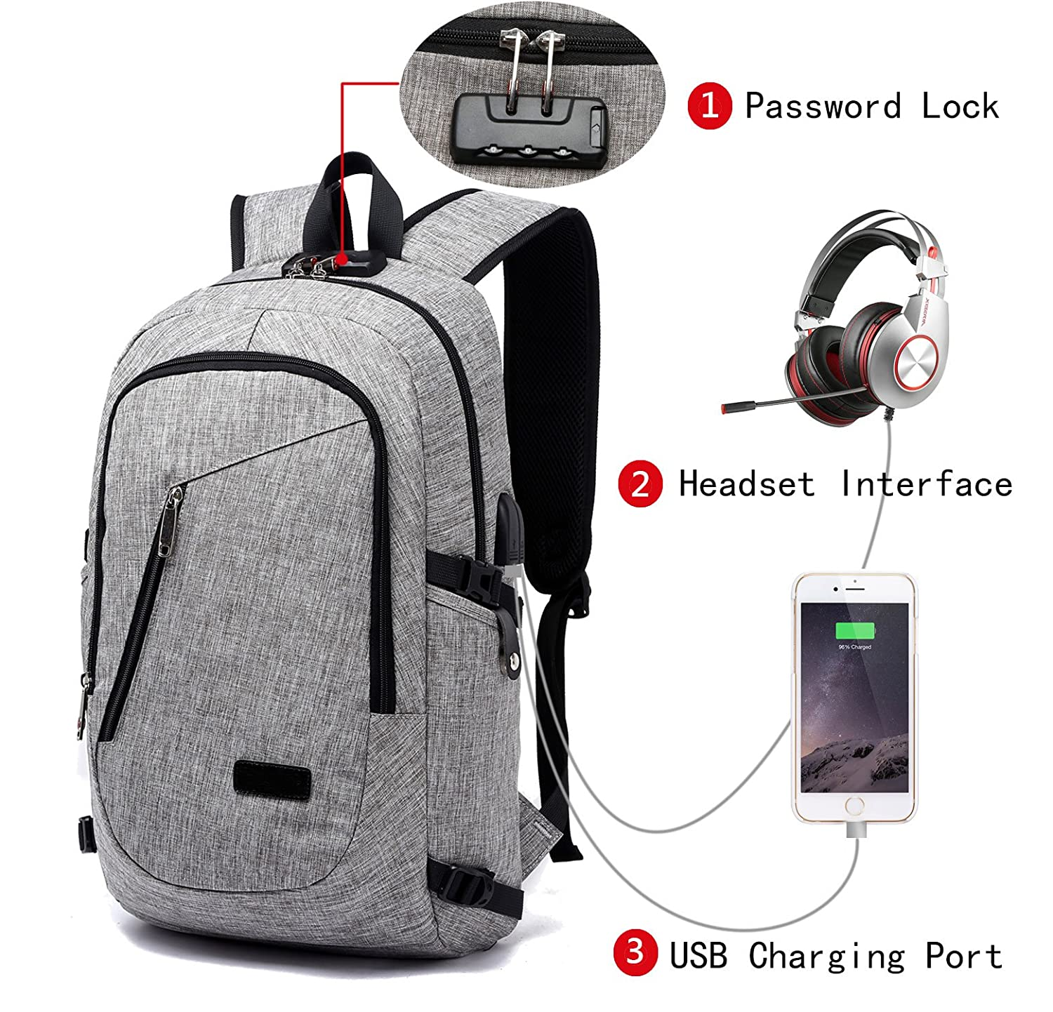 Backpack With Charger And Lock- Fenix Toulouse Handball 6b4af567f46e7
