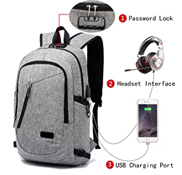 Amazon.com: FLYMEI Laptop Backpack with USB Charging Port and Lock ...
