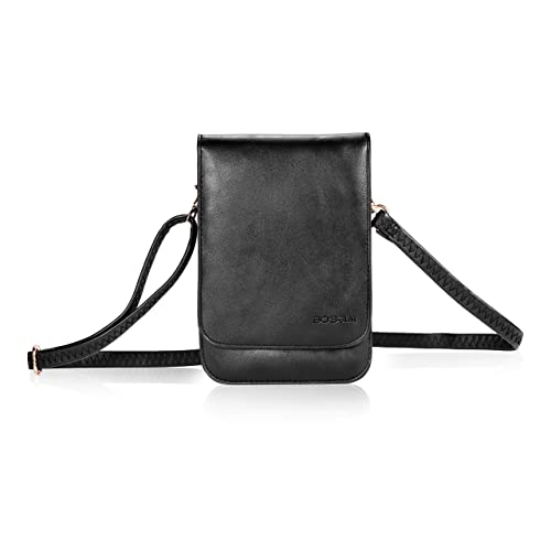 e8ae658c97 Bosam iPhone Xs 8 Plus Purses, Soft Leather Cellphone Bags Crossbody for  Woman with Shoulder