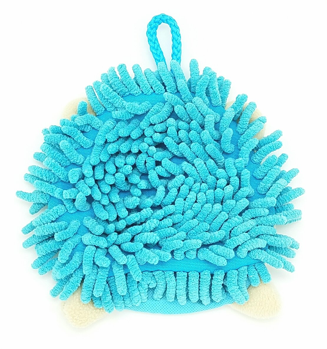 Super Hedgehog Duster Green Colorful Multipurpose Microfiber Cleaning Mitten with Soft Dust-Attracting Strands and Hanging Loop