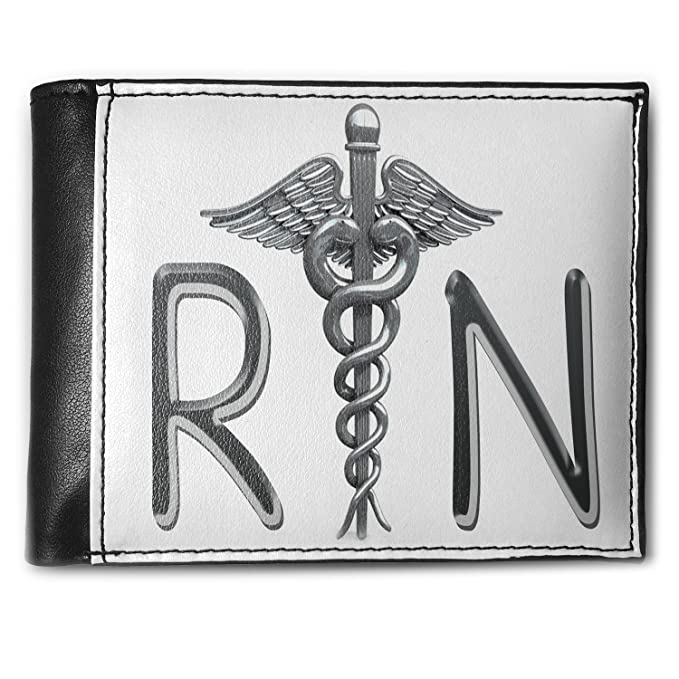 Wallet Registered Nurse Symbol Rfid Mens Bifold Id Case