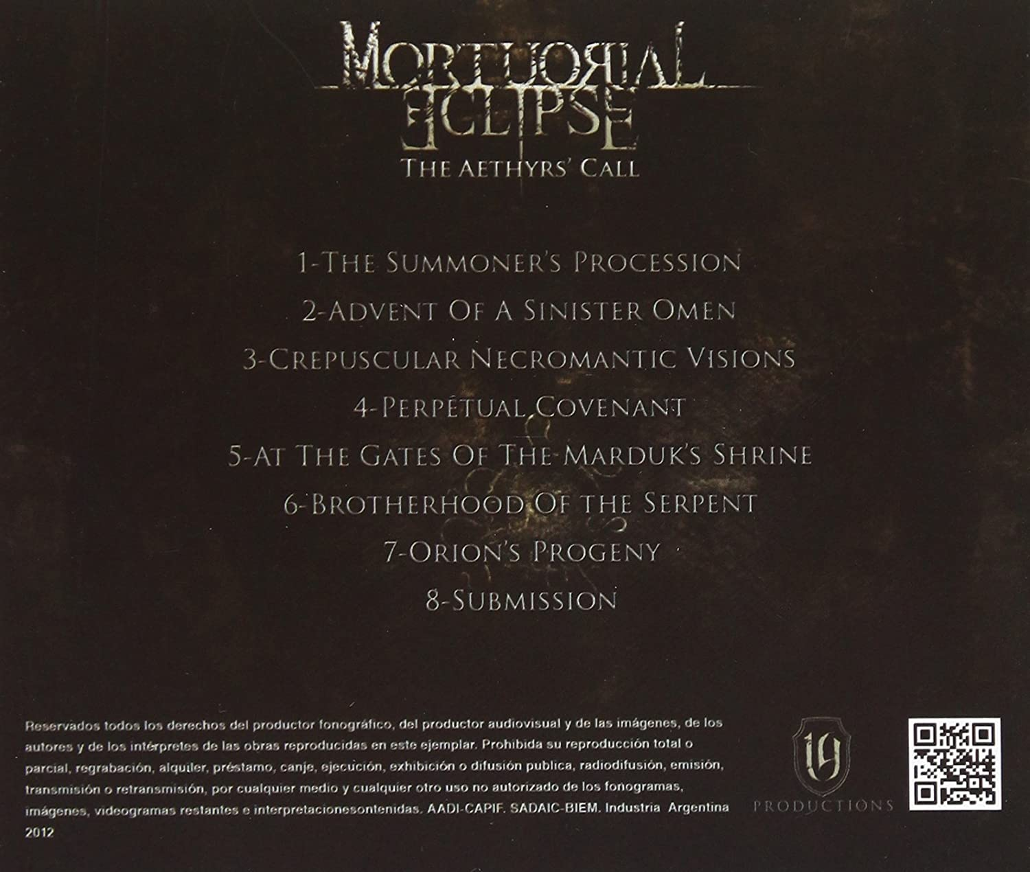 The Aethyrs Call: Mortuorial Eclipse: Amazon.es: Música