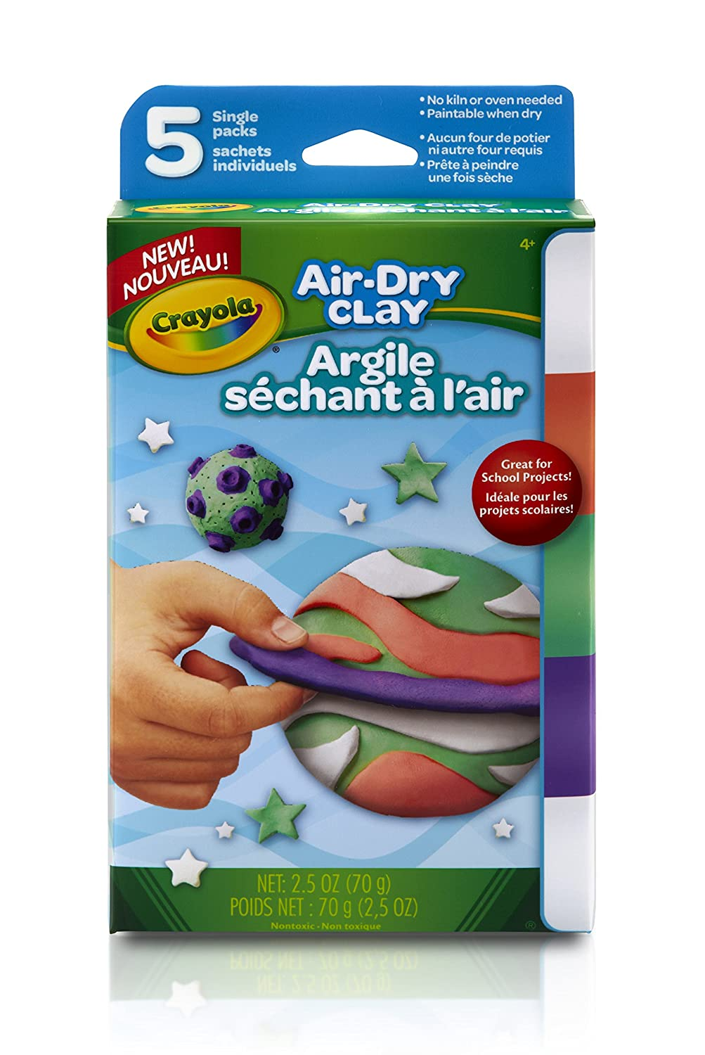 Bright Colors Modeling Clay Crayola Air Dry Clay 2.5 oz
