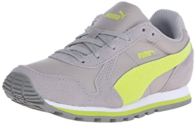 PUMA ST Runner NL Jr Sneaker (Little Kid/Big Kid), Limestone Gray