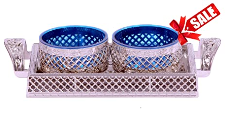 Selvel Air Lock 10x6 Inch Unique Decorative Serving Tray U0026 2 Bowls With  Lid, Nut