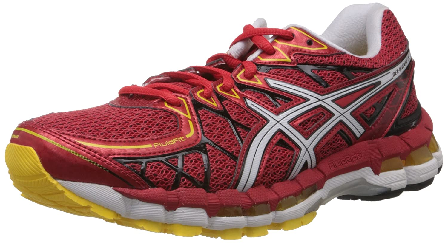 cheap for discount dc373 eb83a ASICS Men s Gel-Kayano 20 Red White and Yellow Mesh Running Shoes - 6 UK   Buy Online at Low Prices in India - Amazon.in