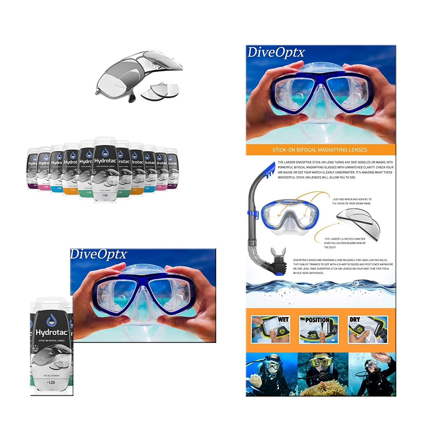 989b09f724 Scubapro OPTX 20 20 - Optical Lenses to stick  Amazon.co.uk  Sports    Outdoors