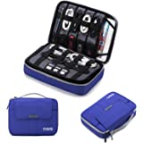 BAGSMART Universal Travel Cable Organizer Electronics Accessories Carry Bag for 9.7 inch iPad, Kindle, Power Adapter, Blue