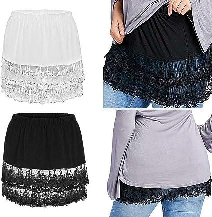 2 Piezas de Minifalda Extensora de Camisa para Mujer ...