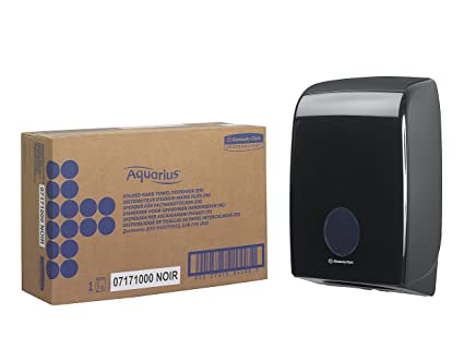 Aquarius 7171 Dispensador de Toallas Secamanos Interplegadas, Negro