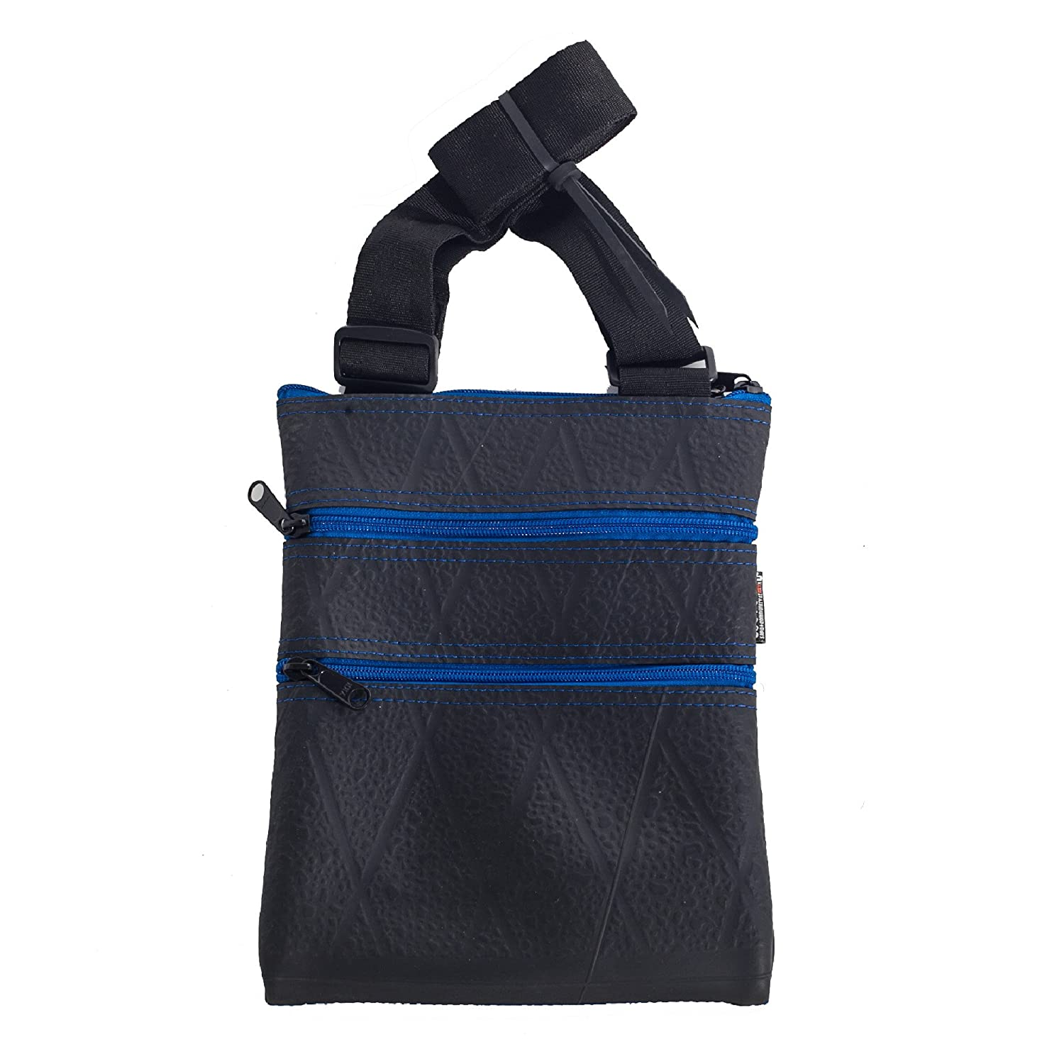 Recycled Small Messenger Bag (Maggie) - Handmade from Tyre Inner (Blue) SAPU