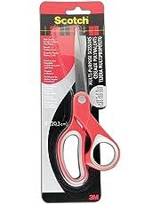 "Scotch Scissors, 8"" Multi-Purpose Scissors, Stainless Steel, 1 Pair, Red"