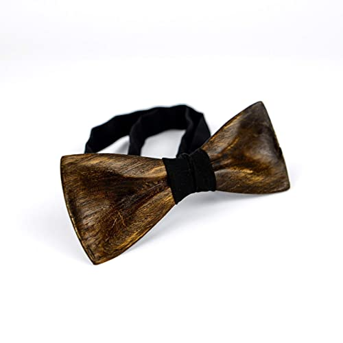 10c5e4f47780 Amazon.com: 3D Wooden Bow Tie For Men Handmade Wood Bowtie Wedding  Accessory: Handmade