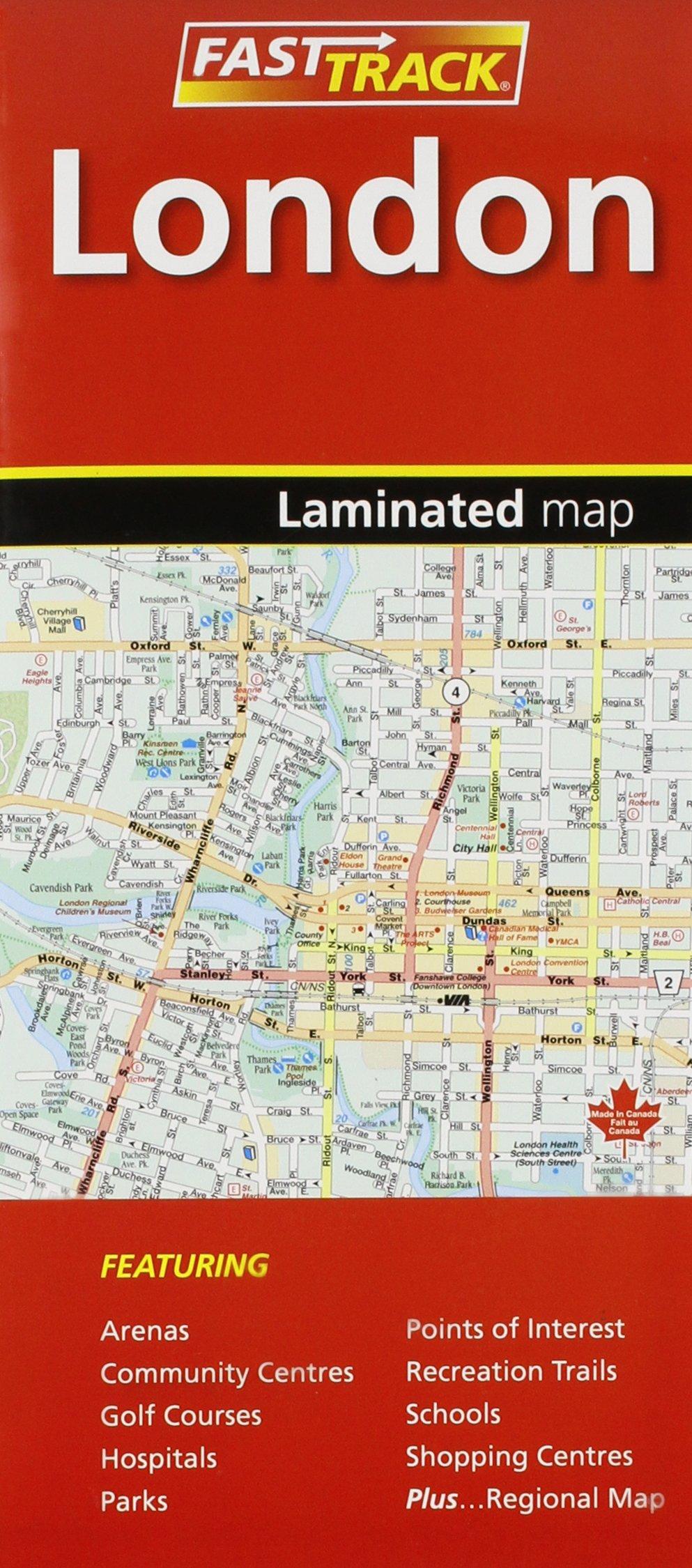 London Ontario Laminated Fast Track Map Mapart Mapart Mapart 9781553681922 Amazon Com Books