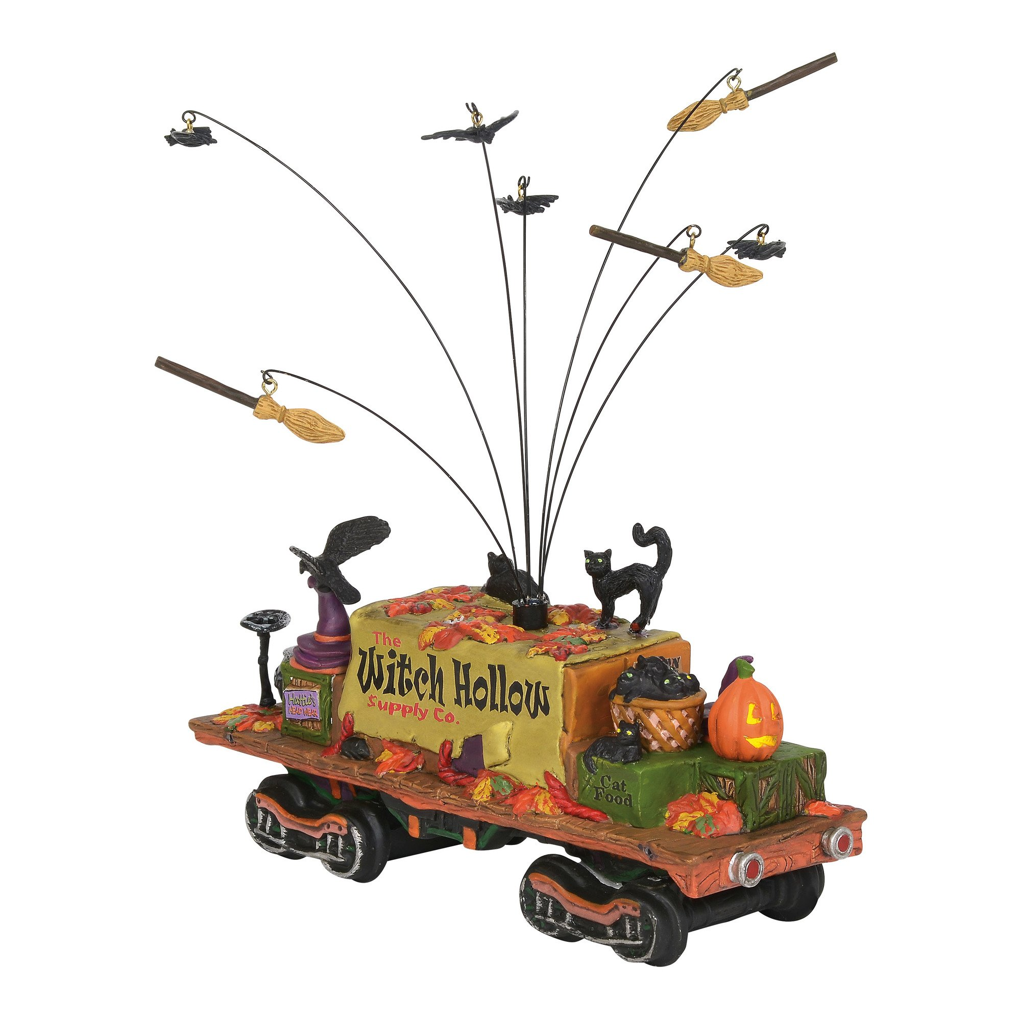 Department56 Snow Village Accessories Halloween Witch Hollow Supply Car Lit Figurine, 3.39'', Multicolor by Department56