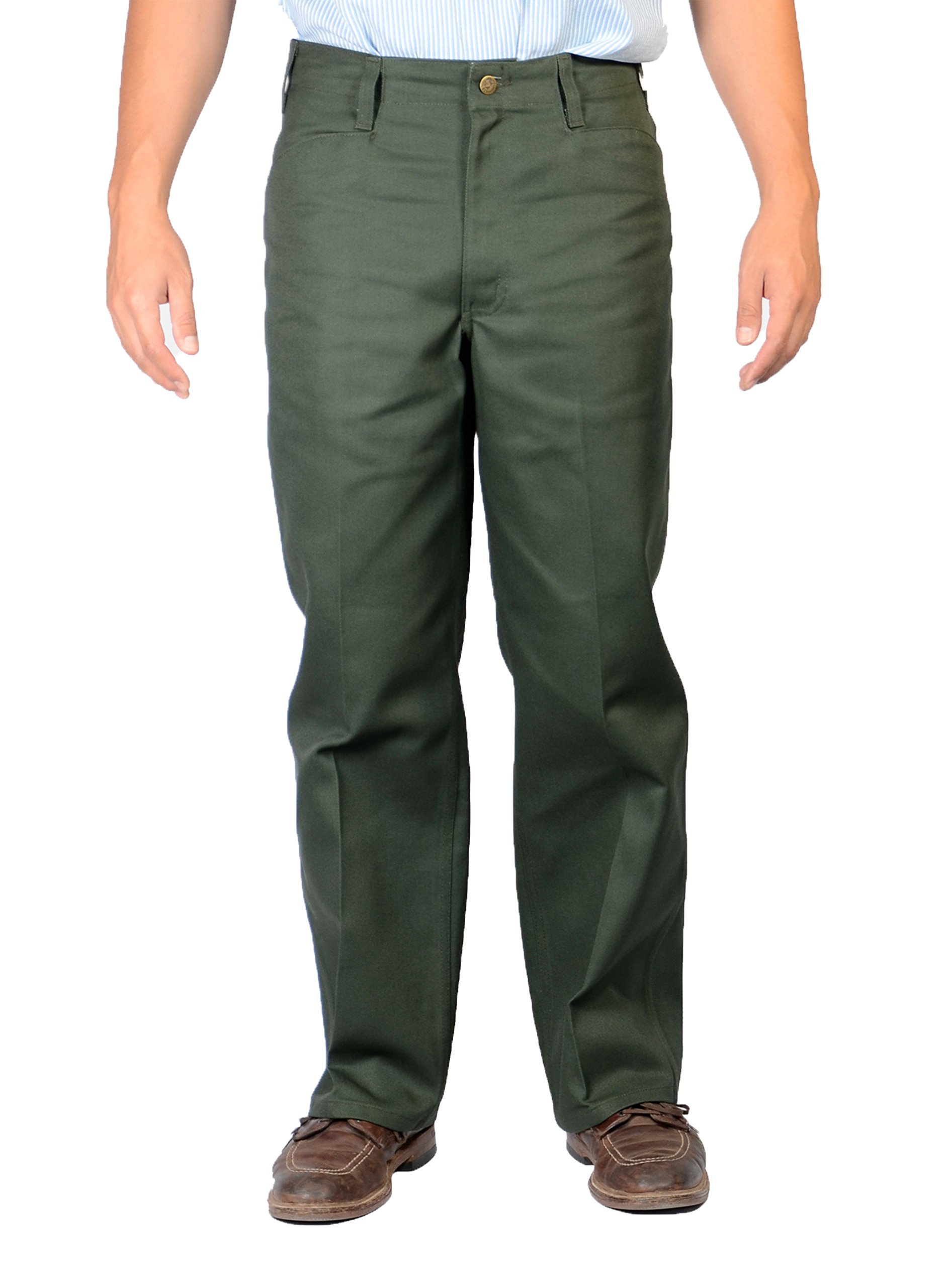 Ben Davis Olive Original Ben's Cotton Twill Pants 36X32
