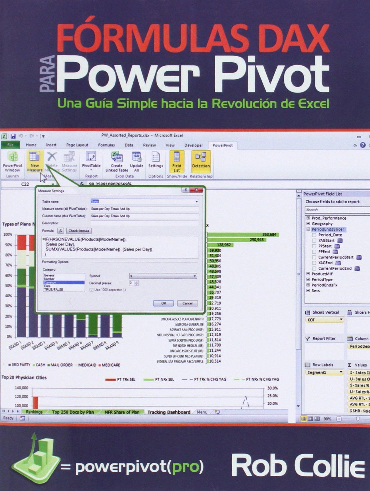 Formulas Dax Para Power Pivot: Una Guia Simple Hacia la Revolucion de Excel Tapa blanda – 29 jul 2014 Rob Collie Miguel Escobar HOLY MACRO PR 1615470298