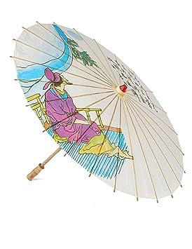 Paraguas sombrilla chino de 85 cm de madera y papel