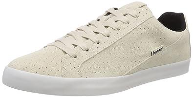 bada8d0c16a Hummel Unisex-Erwachsene Cross Court Sneaker, Weiß (Pristine White), 37 EU