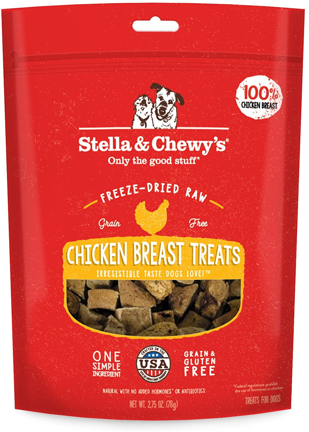 Stella & Chewy's Freeze-Dried Raw Chicken Breast Treats, 2.75 oz bag