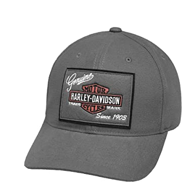 0cb0c076c Harley-Davidson Men's Forged Woven Patch Baseball Cap, Gray Washed ...