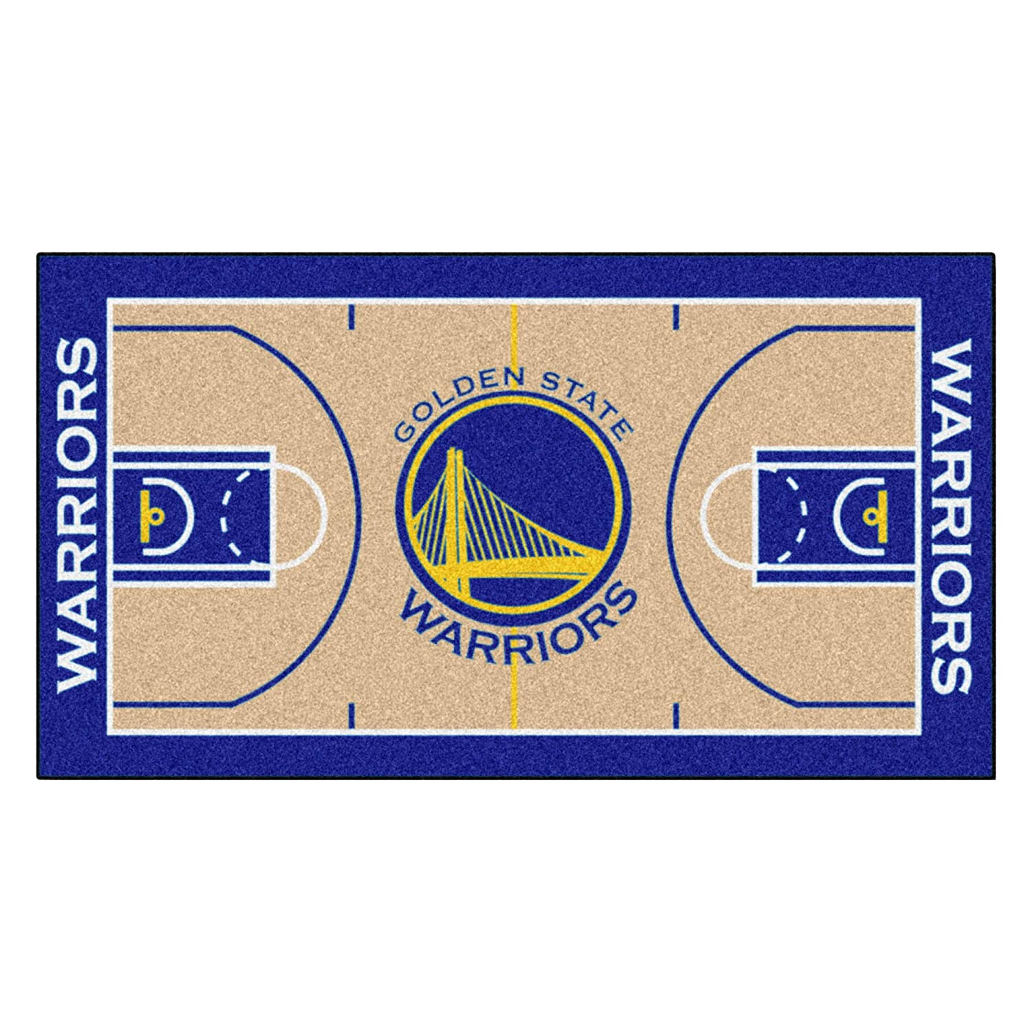 FANMATS9264NBA Golden State Warriors Nylon Face NBA Court Runner-Large