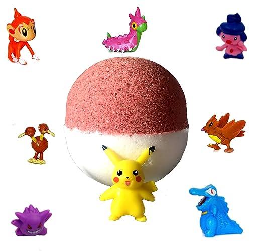 1 XL Cotton Candy Pokemon Pokeball Surprise Bath Bomb
