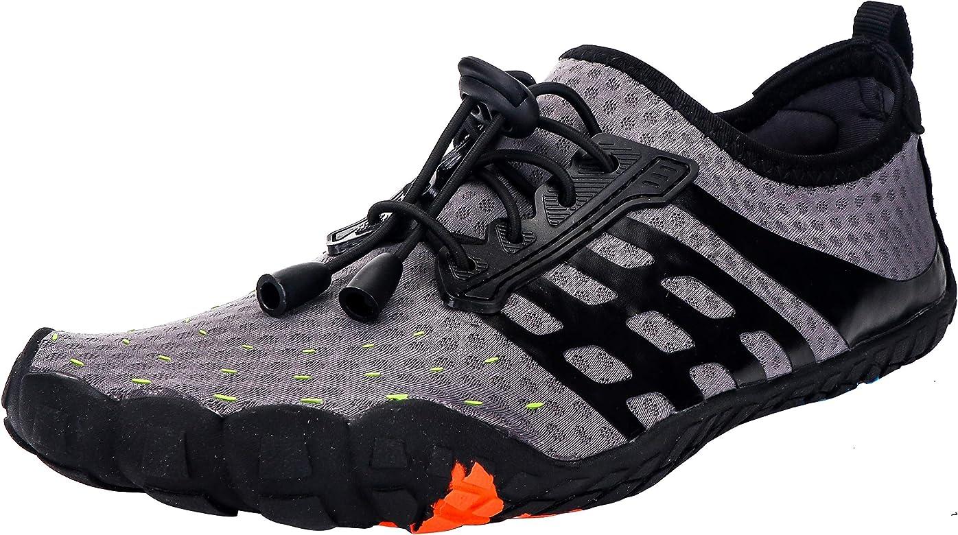 Zapatos de Agua Mujer Hombre Ligeros Descalzo Escarpines para Nadar Surf Piscina Playa Buceo Snorkel Deportes Acuáticos Secado Rápido Zapatillas
