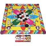 Samaira Sunshine Carromboard For Kids With Ludo Snake Sadder Game - Size: 14 Inch
