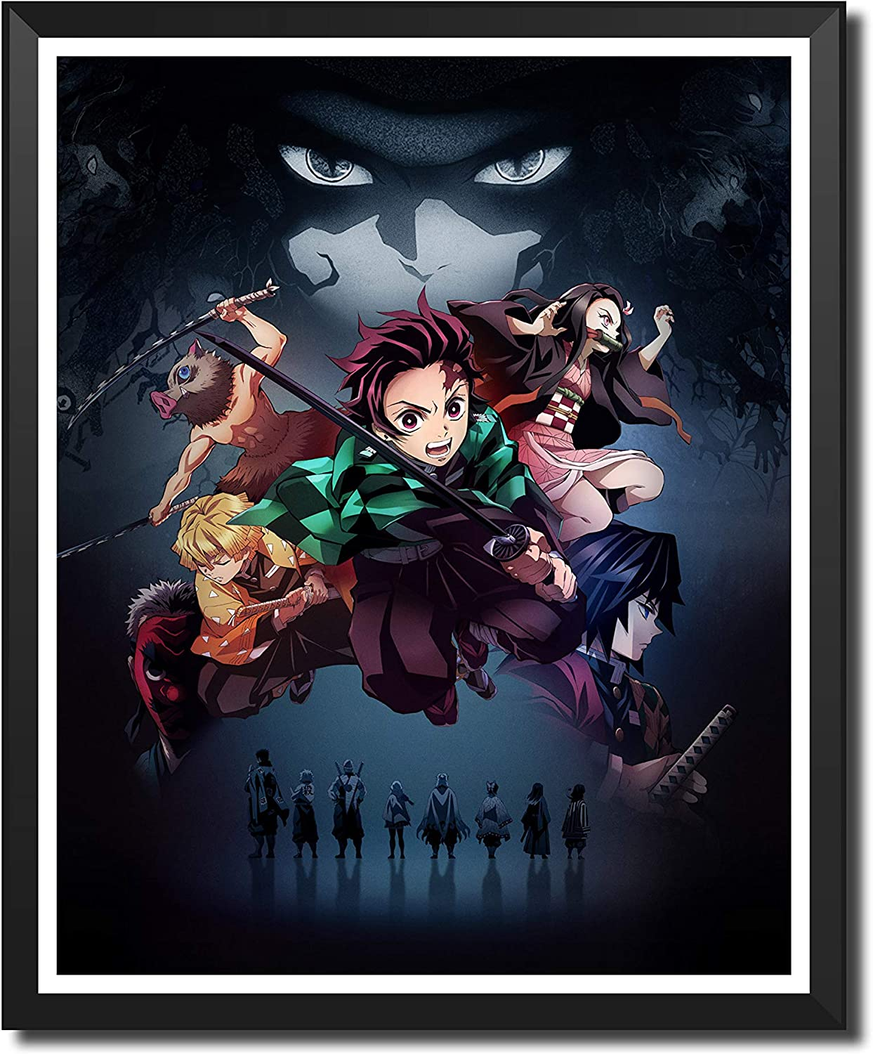 Yansang Anime Demon Slayer Bathroom Decor Wall Decor Home Decor Canvas Print Poster,Unframed,8 x 10 Inches,Set of 1 Piece(Small Size)