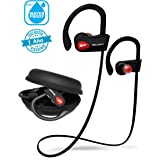 SoundFit Auriculares Inalambricos Bluetooth Deportivos Waterproof, Cascos Bluetooth 4.1 Inalámbricos para tv, Cancelación de
