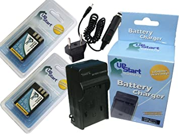 2 bater/ías de repuesto para Nikon EN-EL9 EN-EL9A y pantalla LCD de doble cargador compatibles con c/ámaras Nikon D40 D40x D60 D3000 y D5000 Powerextra