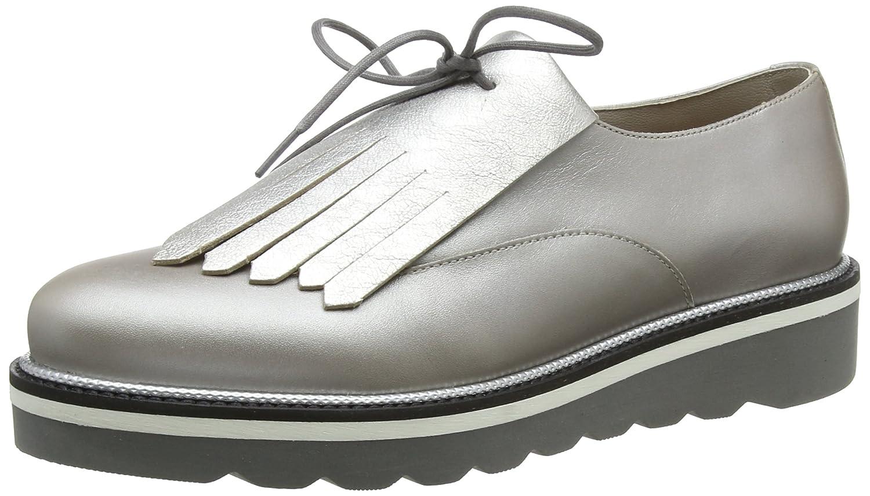 Tommy Hilfiger Damen Pearlized Leder Lace Up Schuhe Derbys Gold (Moonbeam 009)